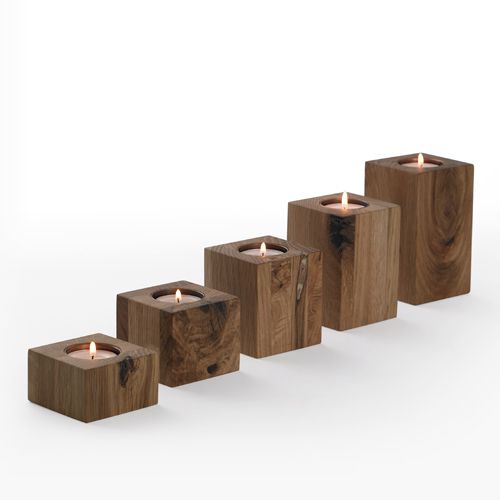 Block candle holders wooden candle holders simply Wood candle holders