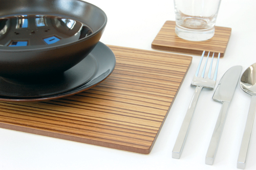 Zebrano Placemats Amp Coasters Simply Tabletop Uk