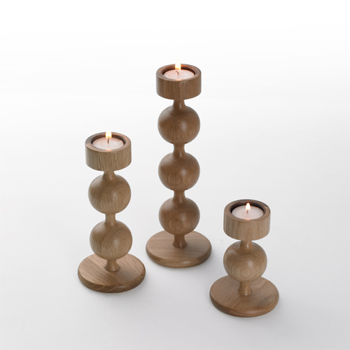 wooden candle holders - Ball