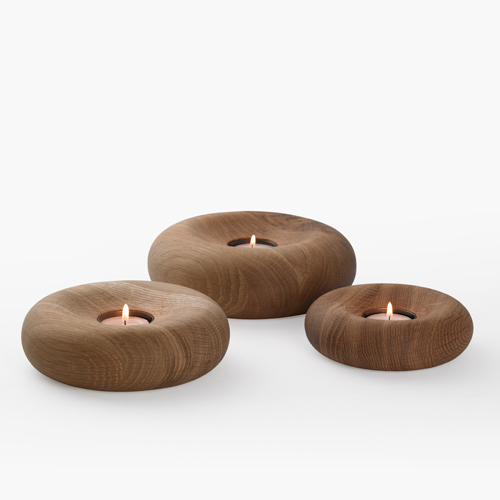 Wooden candle holdes - pod